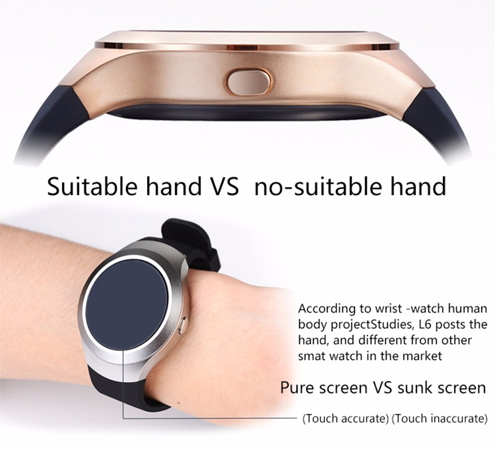 Smart Watch L6 IPS Bluetooth Smartwatch Waterproof Fitness Tracker For Iphone Samsong Android Phone Reloj Inteligente