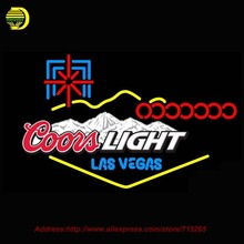 2016 New Neon Sign Coors Light Las Vegas Beer Bar Pub Glass Tube Neon Signs Handcrafted Recreation Room Wall Iconic Sign 37x24(China (Mainland))