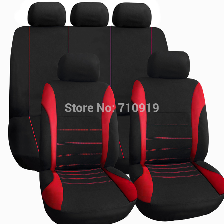 tirol t21620b universal car seat cover set new black gray red 9pieces seat covers for crossovers. Black Bedroom Furniture Sets. Home Design Ideas