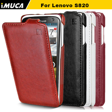 Buy Lenovo s820 case lenovo s820 cover luxury flip leather case iMUCA Original mobile phone accessories bag capa for $5.96 in AliExpress store