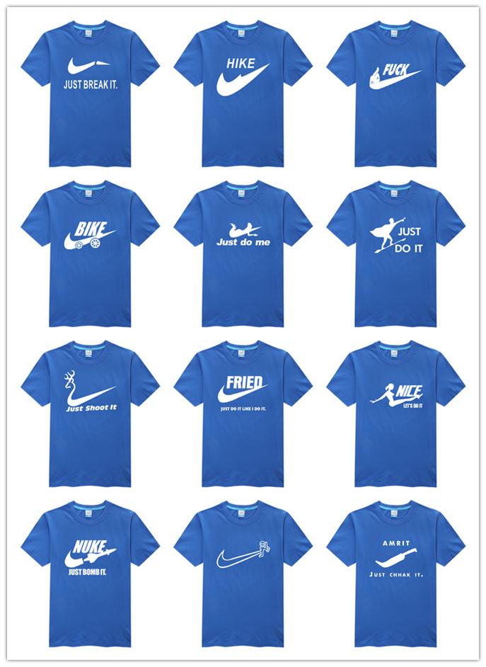 Hot sale spoof brand logo shirt high quality best cool men original T-shirt Glowed fashion men's clothing Top Seller blue(China (Mainland))