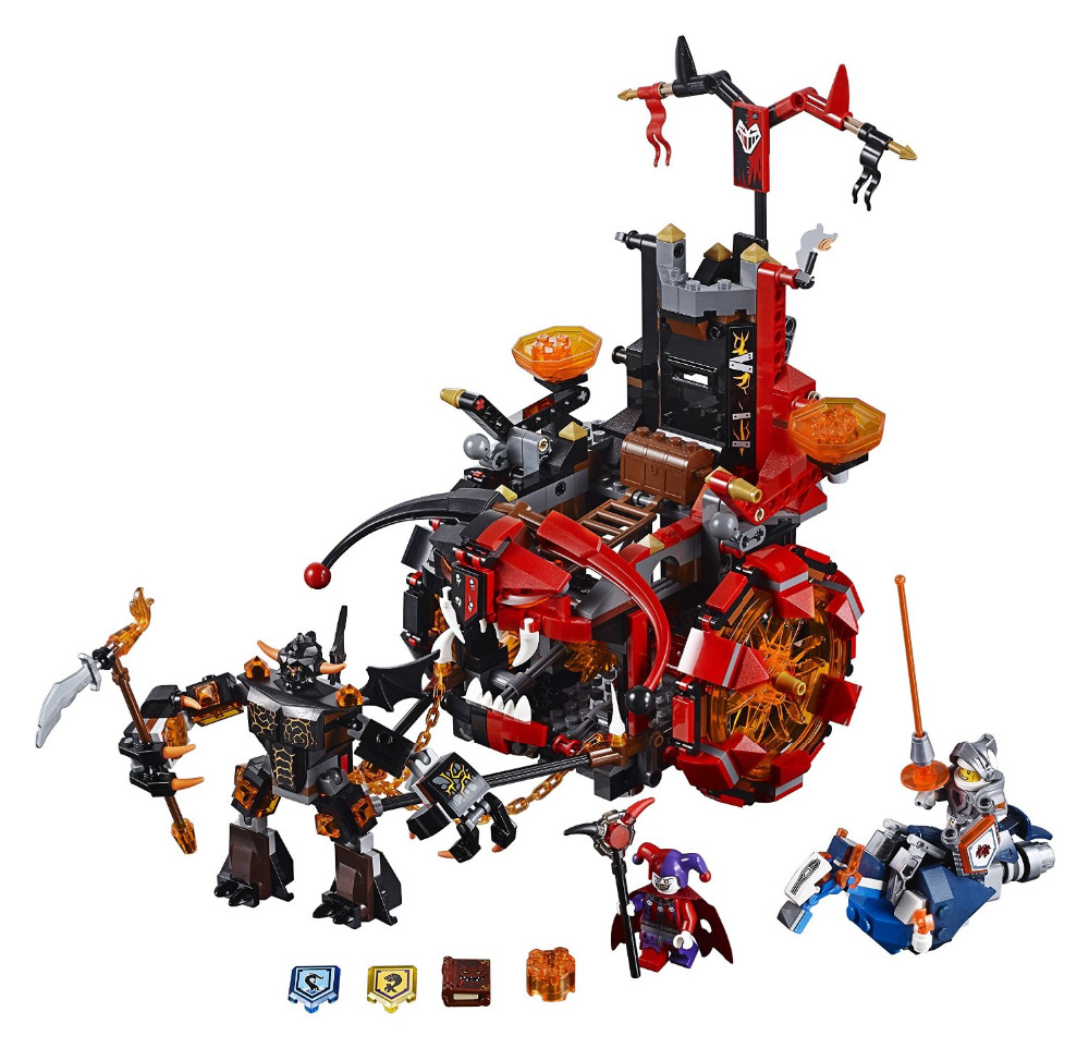 LEPIN Nexo Knights Jestro's Evil Mobile Combination Marvel Building Blocks Kits Toys Minifigures Compatible Legoe Nexus - Cy Super store