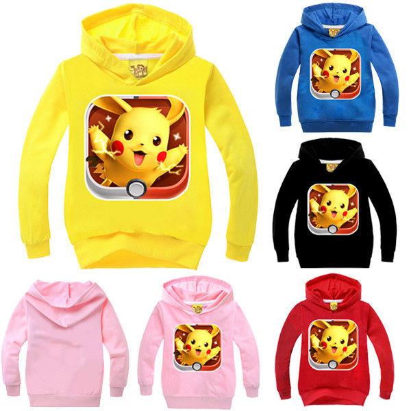 Kids Boys Girls Hoodies Sweatshirts font b Pokemon b font GO Long Sleeve Tops spring autumn