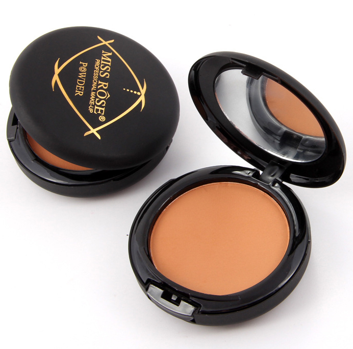 Brand Highlighter Pressed Face Powder Natural Concealer Face Matte Minerales Dark Skin corretivo Powder Makeup Contour Palette(China (Mainland))