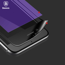 Baseus Premium 0.23mm Screen Protector Tempered Glass For iPhone 6 6s 6 Plus 6s Plus 3D Frosted Arc Edge Full Cover Glass Film(China (Mainland))