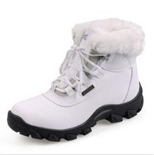 { D & H } invierno mujeres nieve botas a prueba de agua y antideslizante felpa nieve cargadores de la señora de algodón acolchado tendencia que espesan los zapatos calientes mujeres(China (Mainland))