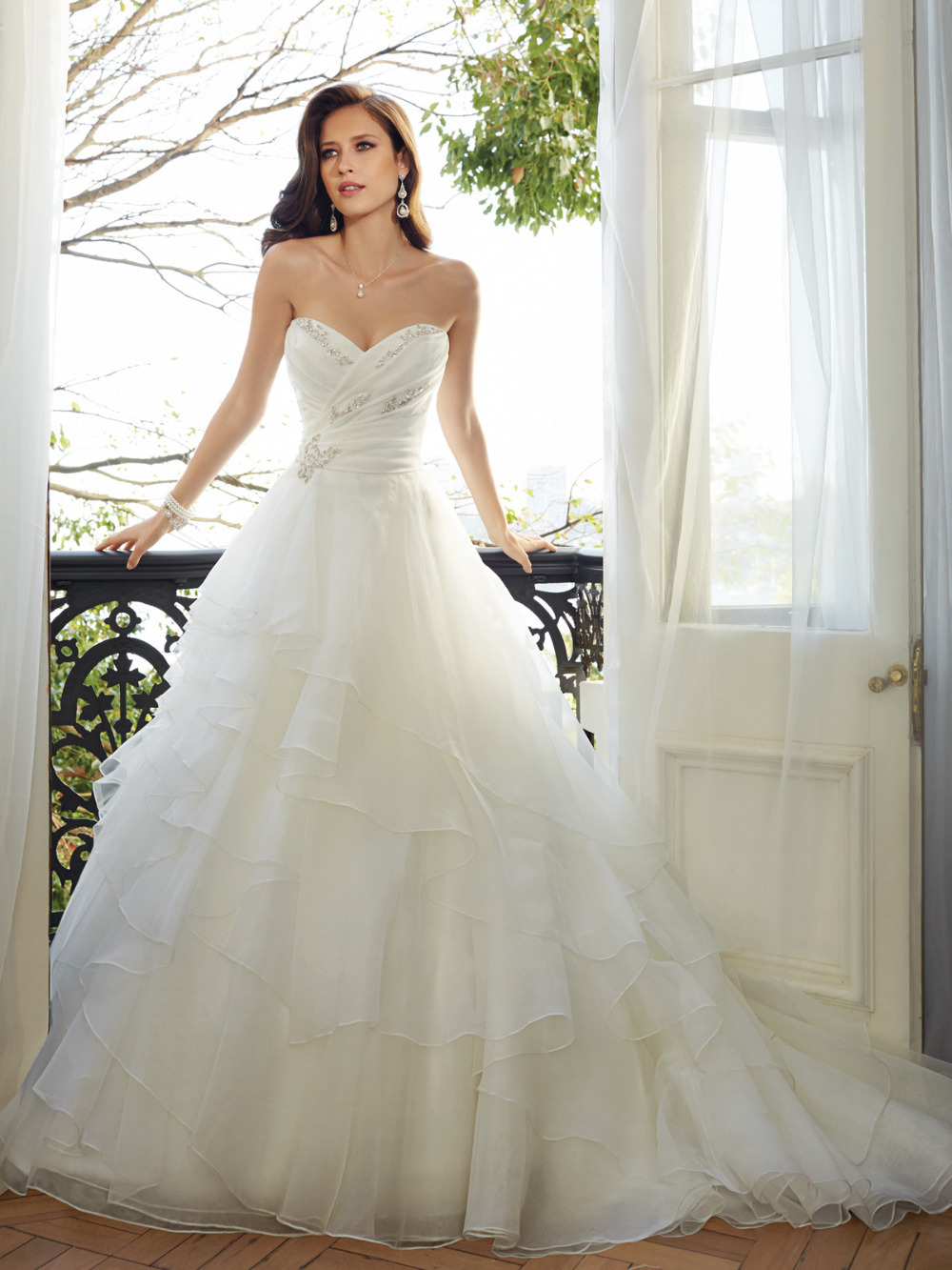 Organza simple elegant custom made wedding dresses 2015 for Custom wedding dress online