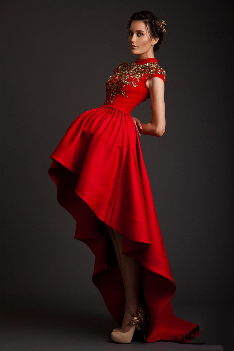 Aliexpress.com : Buy red After short before long prom ...