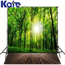 Photo Backdrops Wooden Floor Trees Baby Studio Green Grass Sun For A Photo Shoot