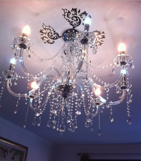 Christmas Promotion! New Modern Crystal Chandeliers Crystal Ball Lustre For Living Room Bedroom E14 Bulbs 8 Heads Home Lighting <br><br>Aliexpress