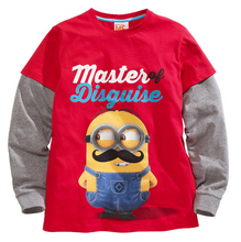 2015 Brand New Cheap O-Nect Cotton Minions Long sleeve T-Shirt Spring Autumn Baby Boys Roupas Infantis Menino Minions tshirt(China (Mainland))