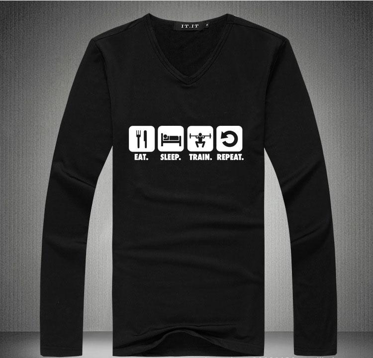 Long Sleeve T Shirt Man Hot Fashion Plus Velvet Sweatshirts Gym Bodybuilding Clothing Crossfit Custom Logo Tshirt homme Sport T(China (Mainland))