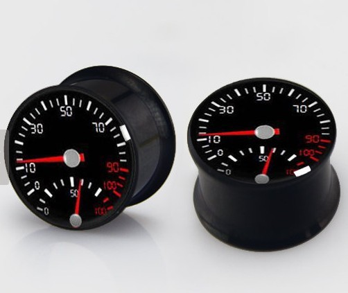 USA Clock logo flare no-screw ear gauge earring piercing body jewelry wholesales 120pcs mix 6-16mm flesh tunnel<br><br>Aliexpress