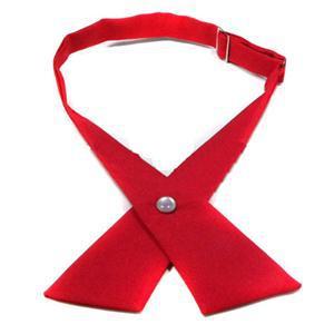 Fashion Adjustable Cross Tie Unisex tie Solid Color Cross Tie Necktie Free Shipping women s and