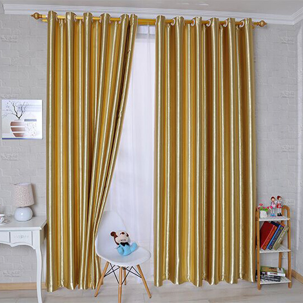 Gold curtains for living room Decorate the house with beautiful