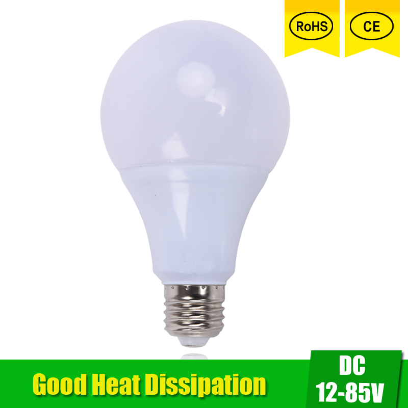 LED Bulbs DC 12V 24V 36V 48V E27 3W 5W 9W 12W 15W LED Lamp 6000K SMD 2835 Home Camping Hunting Emergency Outdoor Light lamparas(China (Mainland))