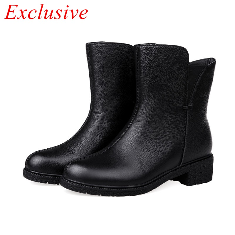 autumn winter shoes woman ankle boots high-heeled ankle boots 2015 new  fashion Winter Boots Black Street casual shoes 34-40