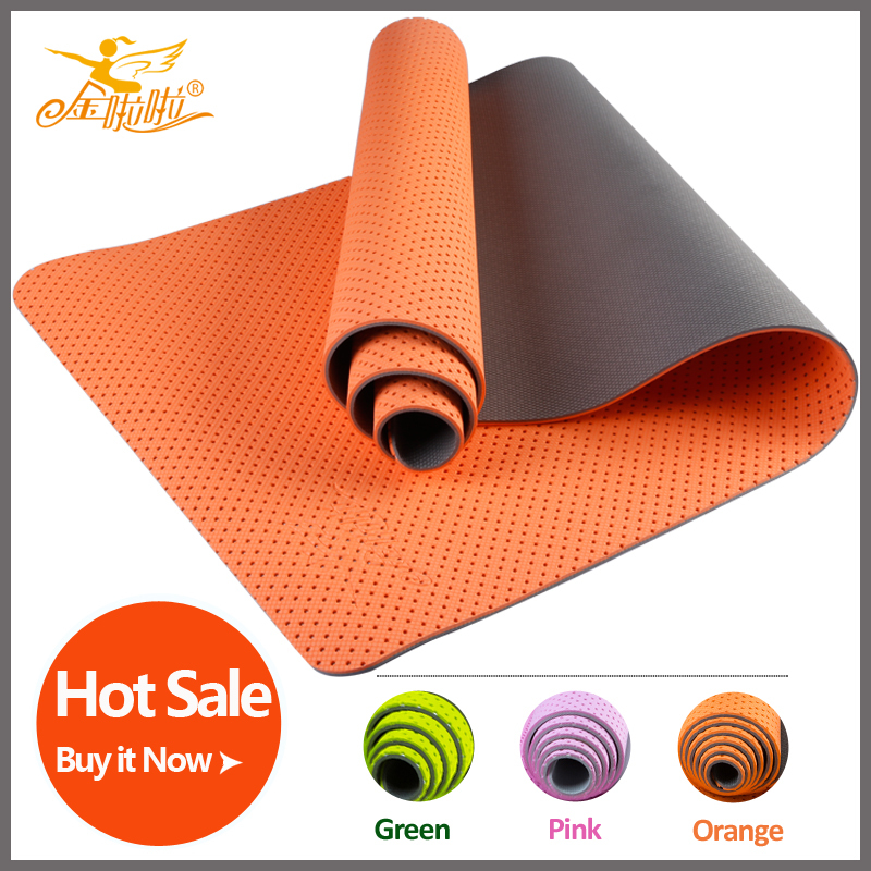Hot Sale High Quality Yoga mat Jinlala Non slip 6mm TPE Fitness Mat Eco friendly Mat