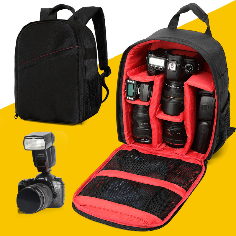 Photo Digital Camera Shoulders Padded Backpack Bag Case Waterproof Shockproof for Canon Nikon DSLR IP-02(China (Mainland))