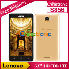 "Original Lenovo S856 Android4.4 Mobile Phone Snapdragon 400 Quad Core Multi-language 4G FDD LTE Dual SIM 5.5""HD 1G RAM 8GB ROM(China (Mainland))"