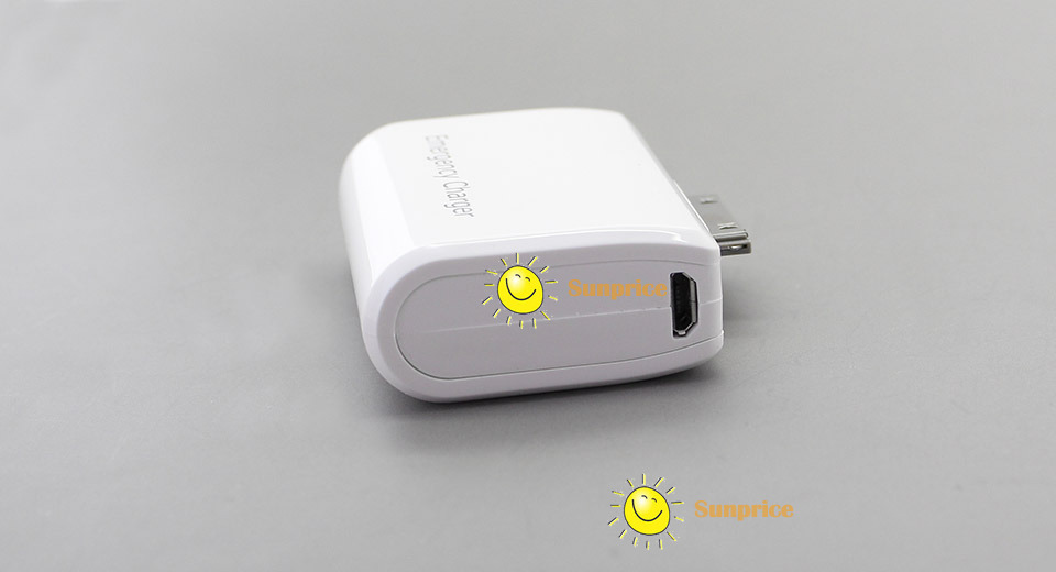 sunprice Micro USB Emergency Charger for Apple 30-Pin Devices High Quality(China (Mainland))