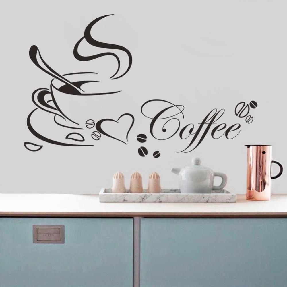 Comprar env o gratis taza de caf vinilo for Vinilos pared aliexpress