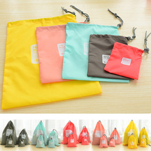 Hot 4pcs/lot Waterproof Storage Bags For Travel Shoe Laundry Lingerie Makeup Pouch For Cosmetic Underwear Organizer(China (Mainland))