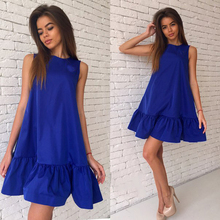 Buy Woman's Fashion 2017 Summer Sexy Ruffles Party Dress Women Sleeveless Casual Bodycon Cocktail Short Mini Tube Beach Dress for $5.98 in AliExpress store