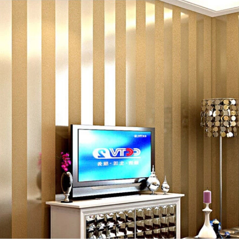 hei e verk ufe gold und beige gestreiften natur holz designs tapete luxus wohnzimmer tv. Black Bedroom Furniture Sets. Home Design Ideas