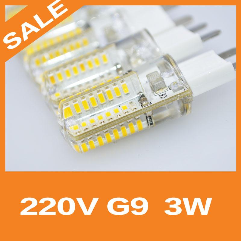 Free shipping AC220V High Power 3W G9 LED Lamp Replace 30W halogen lamp 360 Beam Angle LED Bulb G9 6WLED bulb warranty 2 years(China (Mainland))