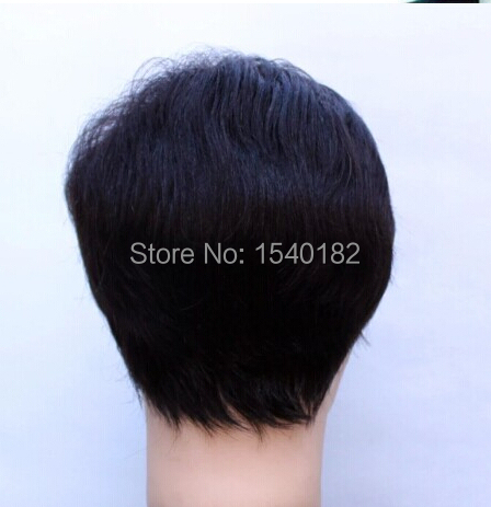 Wig male  man old wig Handsome realistic type inclined bang dad net Business men wig