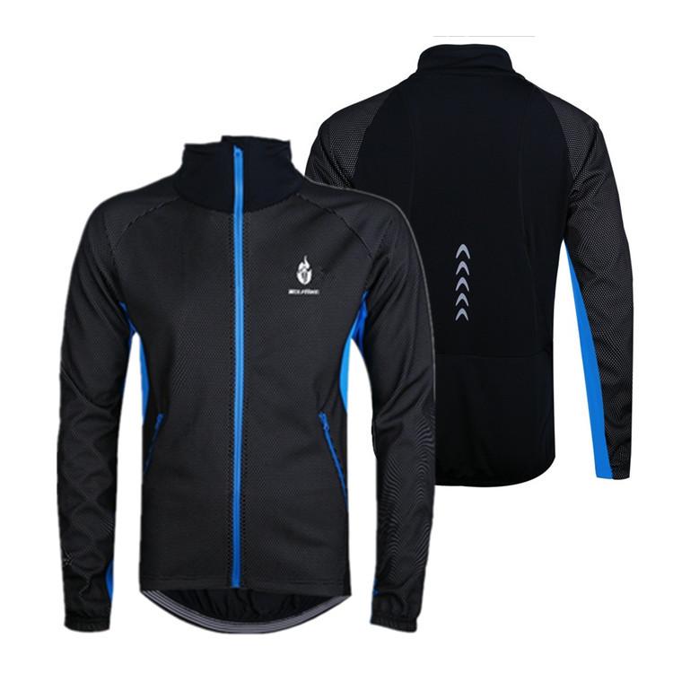 WOLFBIKE Waterproof Men Fleece Thermal Cycling Jacket Bike Bicycle Coat Clothing Casual Long Sleeve Jersey Free Shipping<br><br>Aliexpress