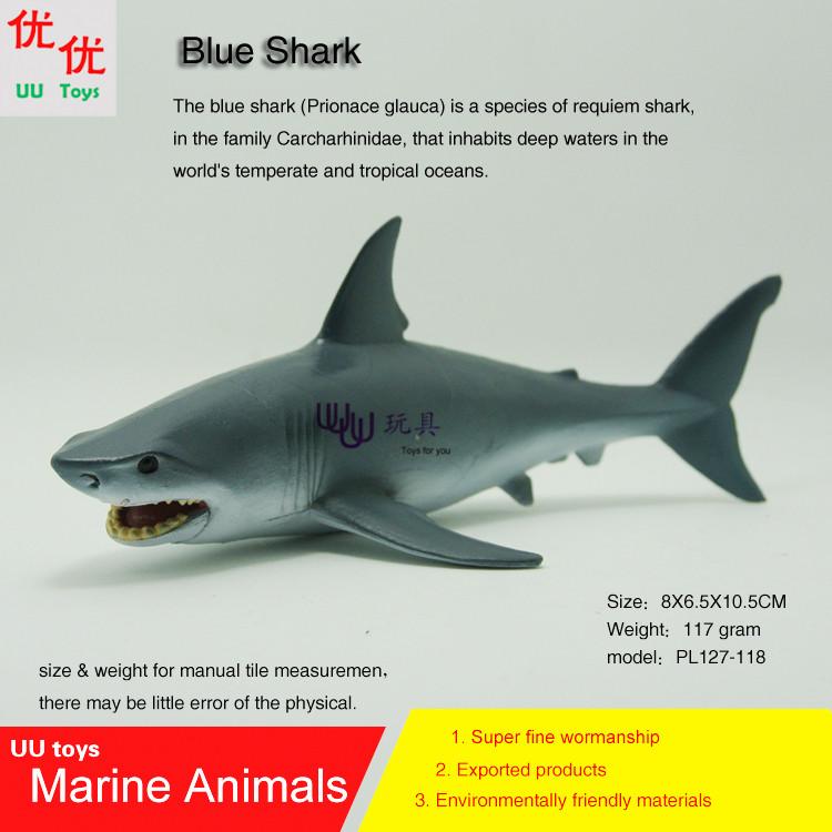Hot toys Blue Shark Simulation model Marine Animals Sea Animal kids gift educational props (Prionace glauca )(China (Mainland))