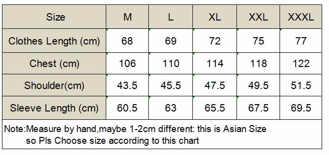 size chart FOR nARUTO