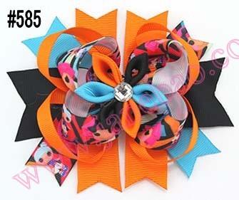 free shipping 300pcs 2015 newest romantic hair bows layered kanzashi hair bows girl hair accessories(China (Mainland))