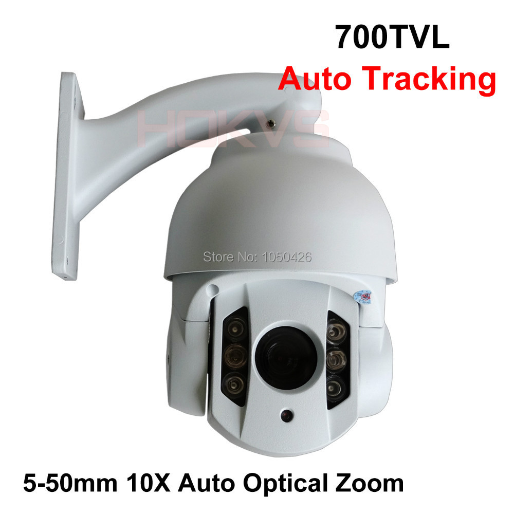 Auto tracking track ptz Camera with 10x optical zoom cctv MINI IR High Speed Dome camera weatherproof waterproof for Outdoor(China (Mainland))