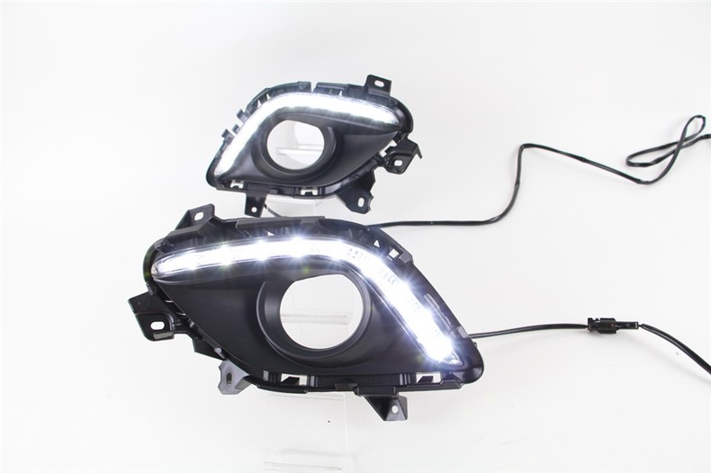 A&T car styling For Megane LED DRL For Megane led fog lamps daytime running light High brightness guide LED DRL