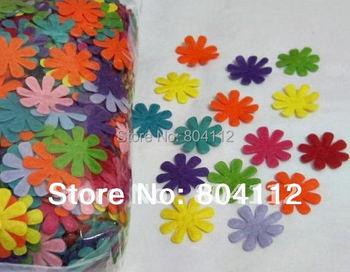100  Colorfull Felt  Flower Applique Pad Handwork Decoration 27mm