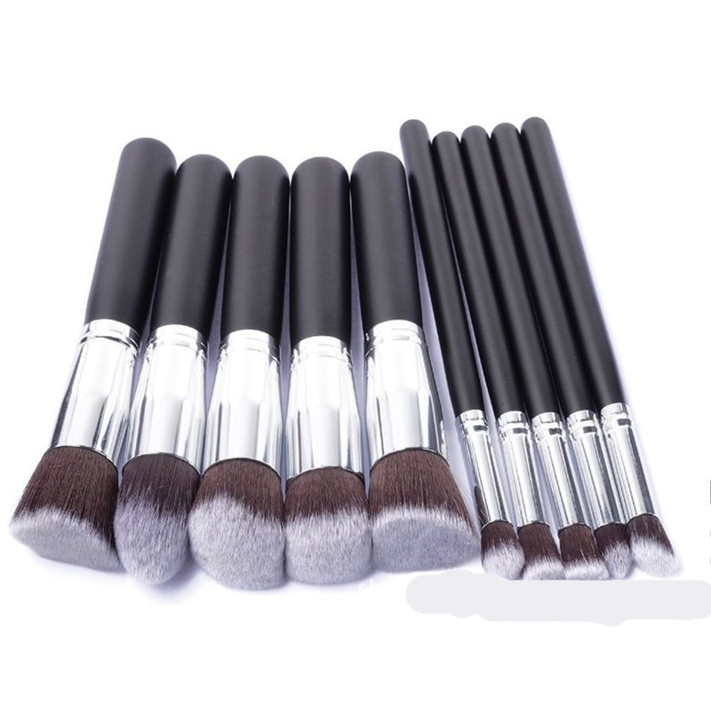 10pcs Full Set Women Makeup Brush Kit Superior Professional Soft Cosmetic Brushes Multifunction Toiletry Kit for Women(China (Mainland))
