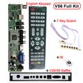 Support 7 55 inch V56 Universal LCD TV Controller Driver Board PC VGA HDMI USB Interface
