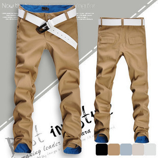 Hot fashion fit mens casual pants new design business trousers colors size 28~36 - Men's clothing base store