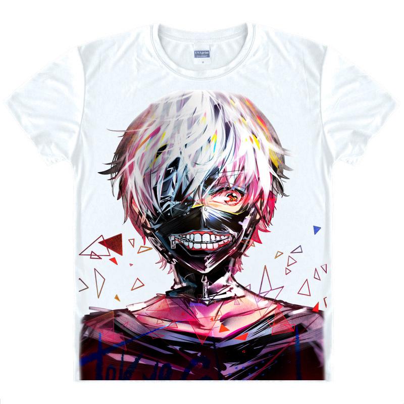 Tokyo Ghoul T shirt kawaii Japanese Anime tshirt Handmade Manga Shirt Cute Cartoon Ken Kaneki Cosplay