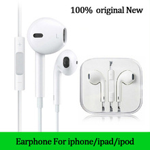 Original New for apple headphones with microphone earphone for iphone 6 4s 5s fone de ouvido auriculares headset xiaomi(China (Mainland))
