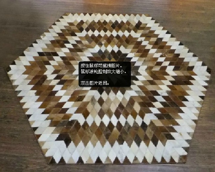 1 piece 100% natural hand made cow leather black white carpet - in China store
