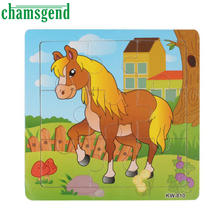 High Quality Wooden Horse Jigsaw Toys For Kids Education And Learning Puzzles Toys Aug11(China (Mainland))