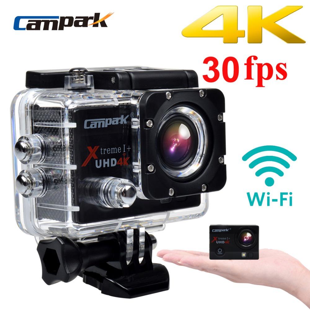 "Campark ACT74 4K 30fps 2.0"" LCD Wifi Sport Action Camera Diving 30m Waterproof Helmet Cam Sport DV Camera(China (Mainland))"