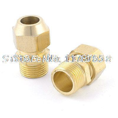 """2pcs 10mm 2/5"""" Hose Brass Pneumatic Fittings Quick Connector Coupler(China (Mainland))"""