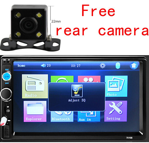 2 din 100% New universal Car Radio Double 2 din Car DVD Player In dash Car PC Stereo videop+Free Camera(China (Mainland))