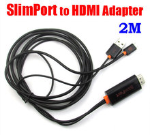 2M Full HD/3D 1080P SlimPort to HDMI MHL HDTV Adapter For Google Nexus 4 5 7 for LG G2 G3 G4 G Pro Flex G pad 8.3 Kindle fire  (China (Mainland))