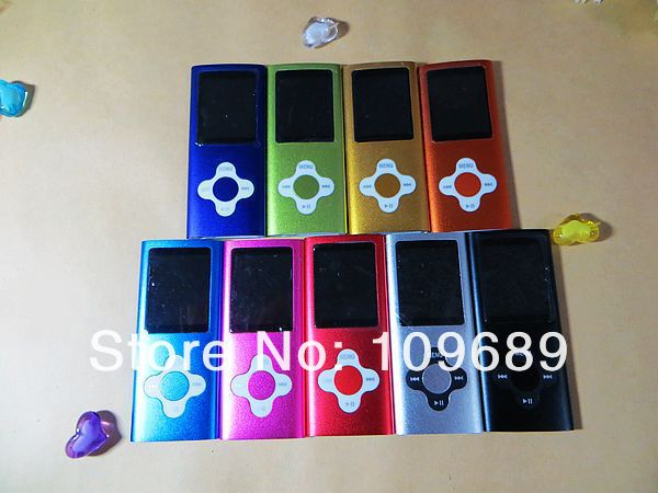 HOT 4th 1.8 inch screen mp4 player 8GB & The plum flower buttons DHL Free shipping *100pcs/lot*(China (Mainland))